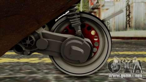 Zip SP Rat Style para GTA San Andreas vista hacia atrás