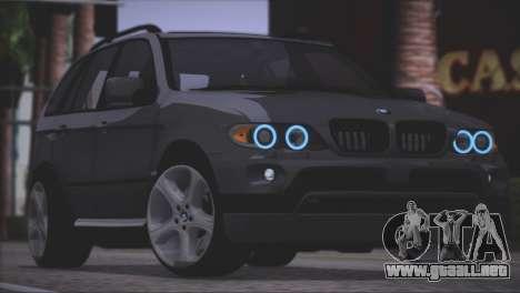 BMW X5 E53 para vista lateral GTA San Andreas