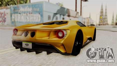 Ford GT 2016 Black Revel para GTA San Andreas left