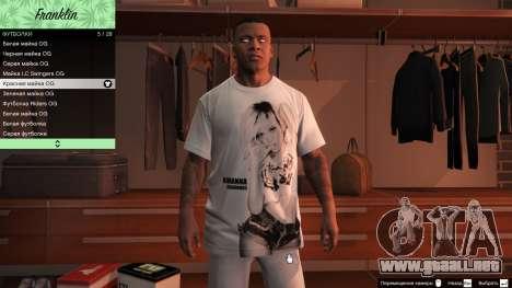 Franklin Hip Hop Camisetas para GTA 5
