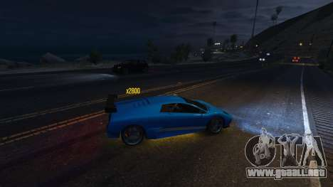 GTA 5 Drift HUD cuarto captura de pantalla