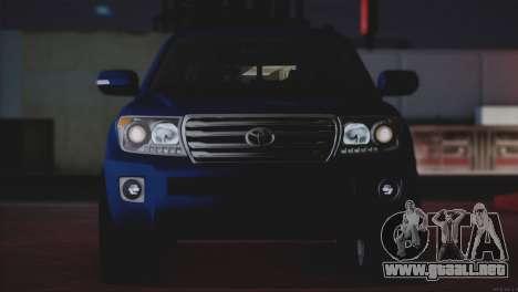 Toyota Land Cruiser 200 para vista inferior GTA San Andreas