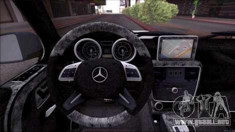 Mercedes Benz G65 AMG 2015 Topcar Tuning para el motor de GTA San Andreas