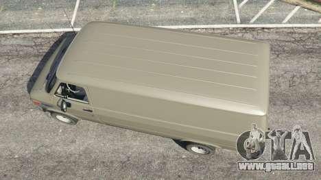 GTA 5 Chevrolet G20 Van vista trasera