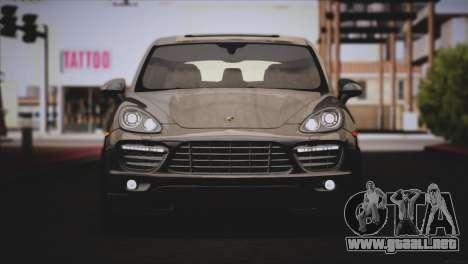 Porsche Cayenne Turbo 2012 para vista lateral GTA San Andreas