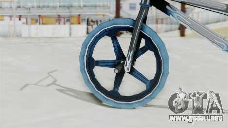 Custom Bike from Bully para GTA San Andreas vista posterior izquierda