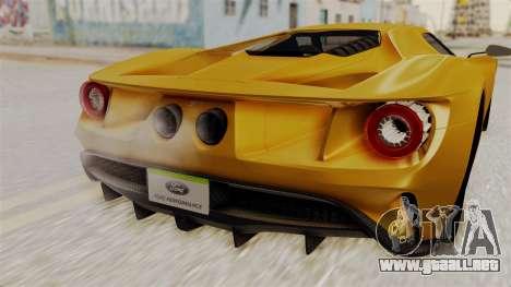 Ford GT 2016 Black Revel para la visión correcta GTA San Andreas