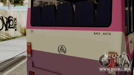 BAZ A079.07 estándar para GTA San Andreas vista posterior izquierda