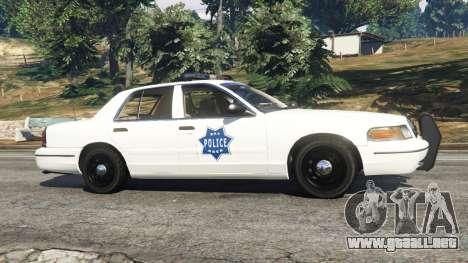 GTA 5 Ford Crown Victoria 1999 Police v0.9 vista lateral izquierda