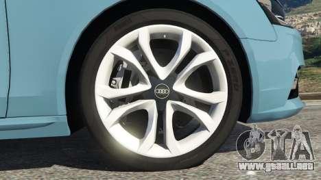 GTA 5 Audi A4 Avant 2013 vista lateral trasera derecha