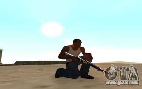 Rifle con un cachorro de tigre para GTA San Andreas segunda pantalla