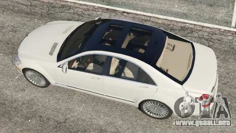 GTA 5 Mercedes-Benz S550 W221 v0.5 [Alpha] vista trasera