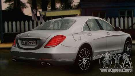 Mercedes-Benz S500 W222 para GTA San Andreas left