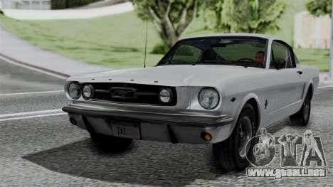Ford Mustang Fastback 289 1966 para GTA San Andreas