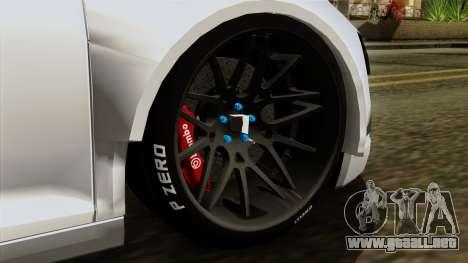 Audi R8 v1.0 Edition Liberty Walk para GTA San Andreas vista posterior izquierda