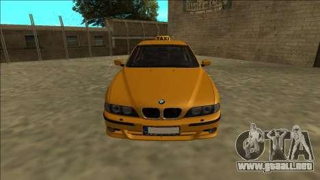 1999 BMW 530d E39 Taxi para la visión correcta GTA San Andreas