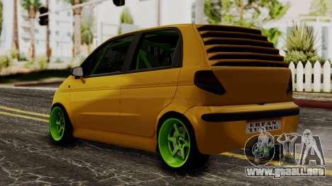Daewoo Matiz Tuning para GTA San Andreas left