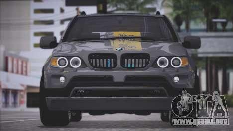 BMW X5 E53 para GTA San Andreas vista hacia atrás