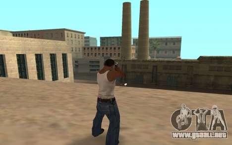Desert Eagle con un cachorro de tigre para GTA San Andreas segunda pantalla