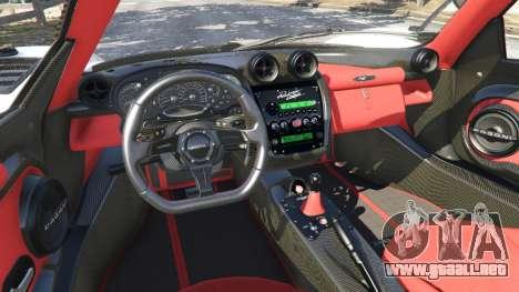 GTA 5 Pagani Zonda Cinque Roadster delantero derecho vista lateral