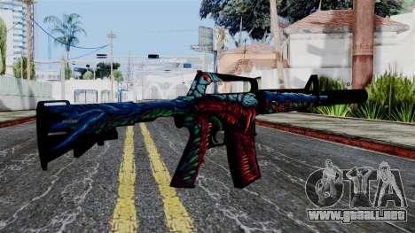 M4A1-S Hyper Beast para GTA San Andreas segunda pantalla