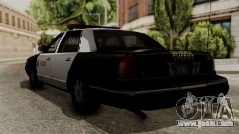 Ford Crown Victoria LP v2 Sheriff para GTA San Andreas left