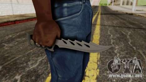 El cuchillo para GTA San Andreas tercera pantalla