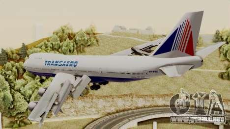 Boeing 747 TransAero para GTA San Andreas left