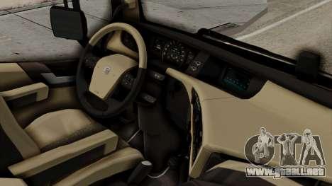 Volvo FH Euro 6 10x4 Exclusive Low Cab para la visión correcta GTA San Andreas