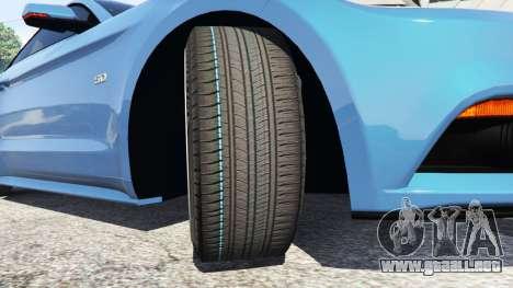 GTA 5 Ford Mustang GT 2015 vista lateral derecha