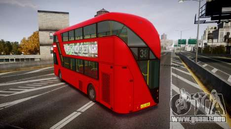 Wrightbus New Routemaster Metroline para GTA 4 Vista posterior izquierda