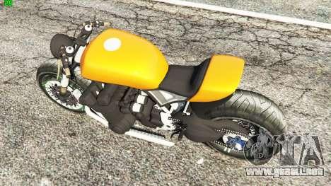 GTA 5 Honda CB 1800 Cafe Racer Paint vista trasera