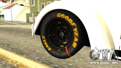 Volkswagen Beetle Herbie Fully Loaded para GTA San Andreas vista posterior izquierda