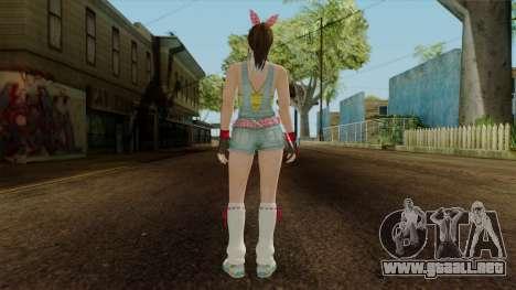 Dead Or Alive 5 Hitomi Overalls para GTA San Andreas tercera pantalla
