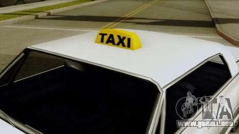 Taxi-Savanna para la visión correcta GTA San Andreas