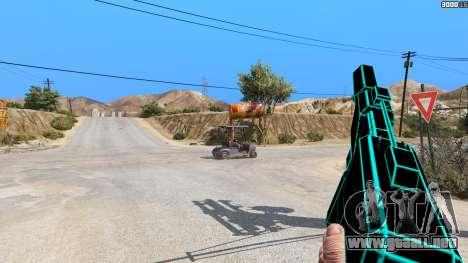 GTA 5 Saints Row 3 Cyber SMG Emissive v1.01 segunda captura de pantalla
