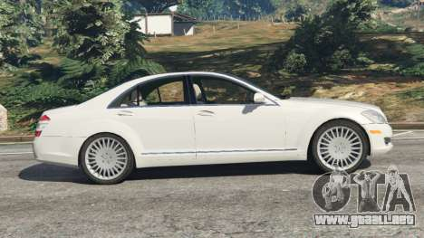 GTA 5 Mercedes-Benz S550 W221 v0.5 [Alpha] vista lateral izquierda