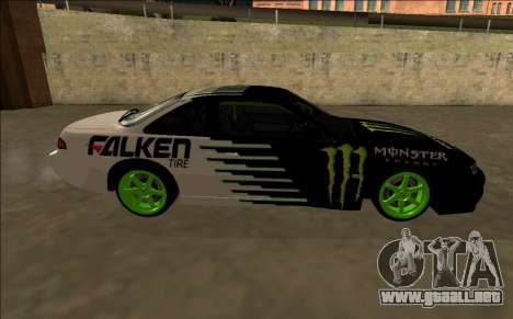 Nissan 200SX Drift Monster Energy Falken para visión interna GTA San Andreas