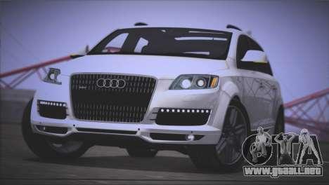 Audi Q7 2008 para GTA San Andreas vista posterior izquierda
