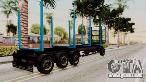 Wood Transport Trailer from ETS 2 para GTA San Andreas left