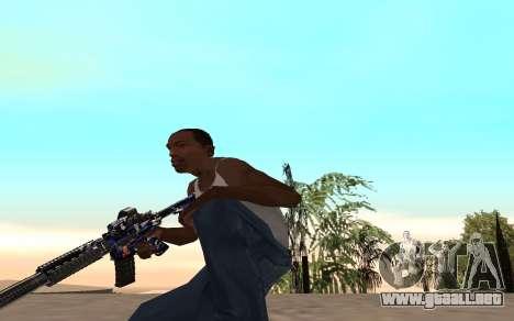 M4 c cub para GTA San Andreas sucesivamente de pantalla