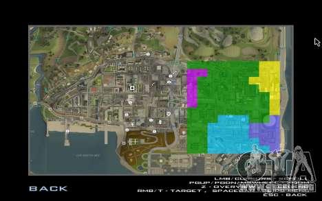 HD tarjeta para Diamondrp para GTA San Andreas sucesivamente de pantalla