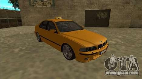 1999 BMW 530d E39 Taxi para GTA San Andreas vista hacia atrás
