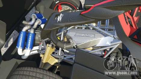 GTA 5 Pagani Zonda Cinque Roadster vista lateral derecha