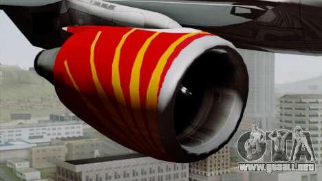 Airbus A320-200 Air India para la visión correcta GTA San Andreas