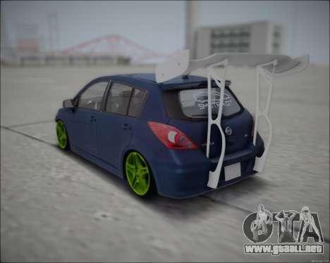 Nissan Tiida Drift Korch para GTA San Andreas vista posterior izquierda