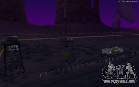 Nueva Base Militar v1.0 para GTA San Andreas octavo de pantalla