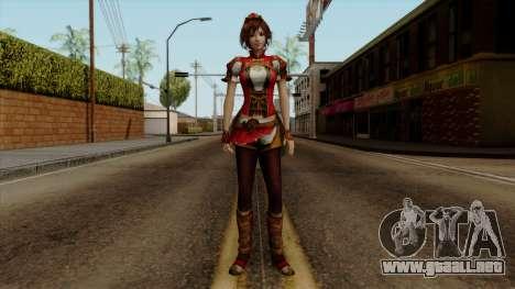Shin Sangoku Musou 8 - Sun ShangXiang para GTA San Andreas segunda pantalla