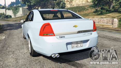 GTA 5 Chevrolet Caprice LS 2014 vista lateral izquierda trasera
