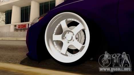 Honda CRZ Hybrid para GTA San Andreas vista posterior izquierda